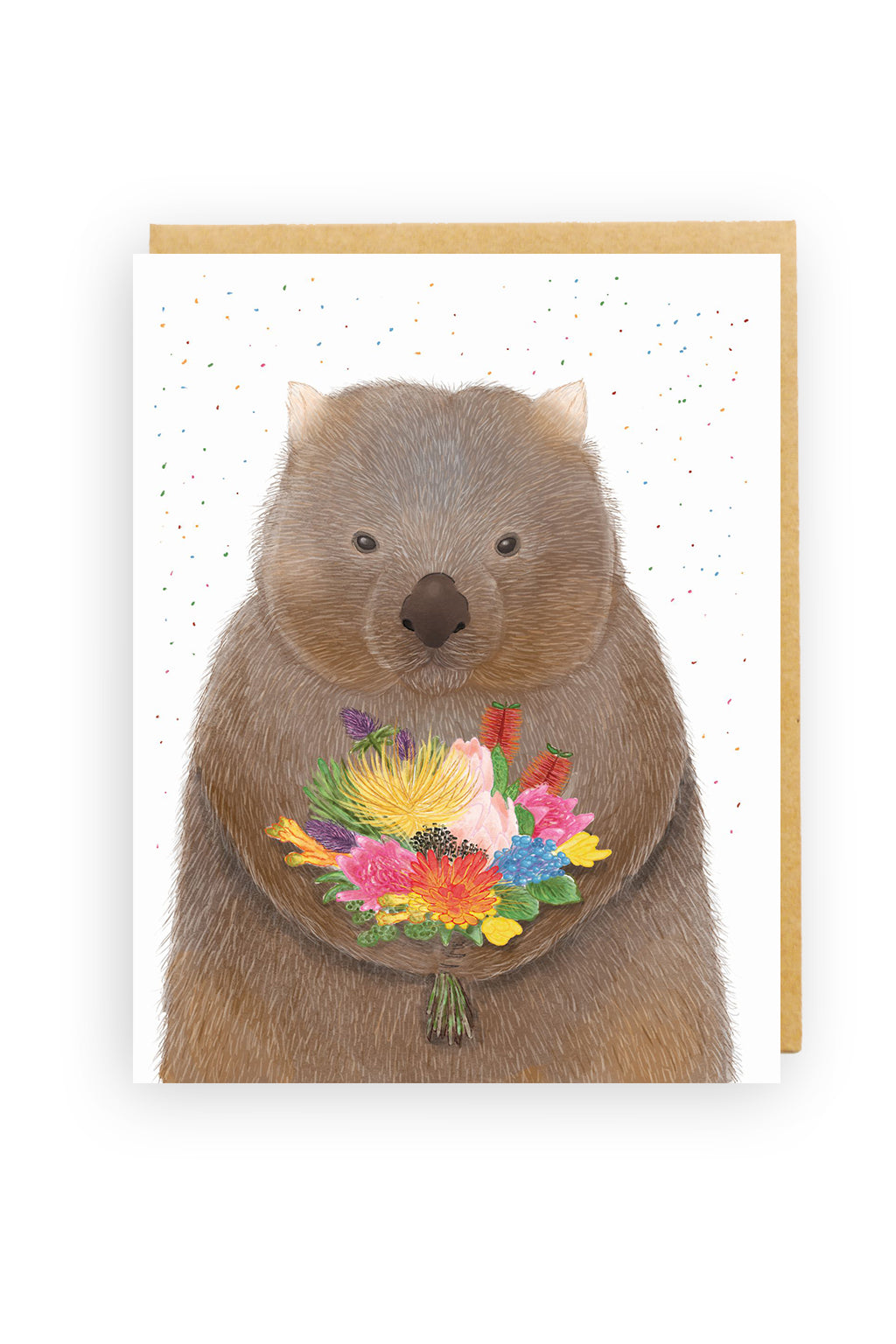 Squirrel Design Studio-Wombat Bouquet - Greeting Card-Mott and Mulberry