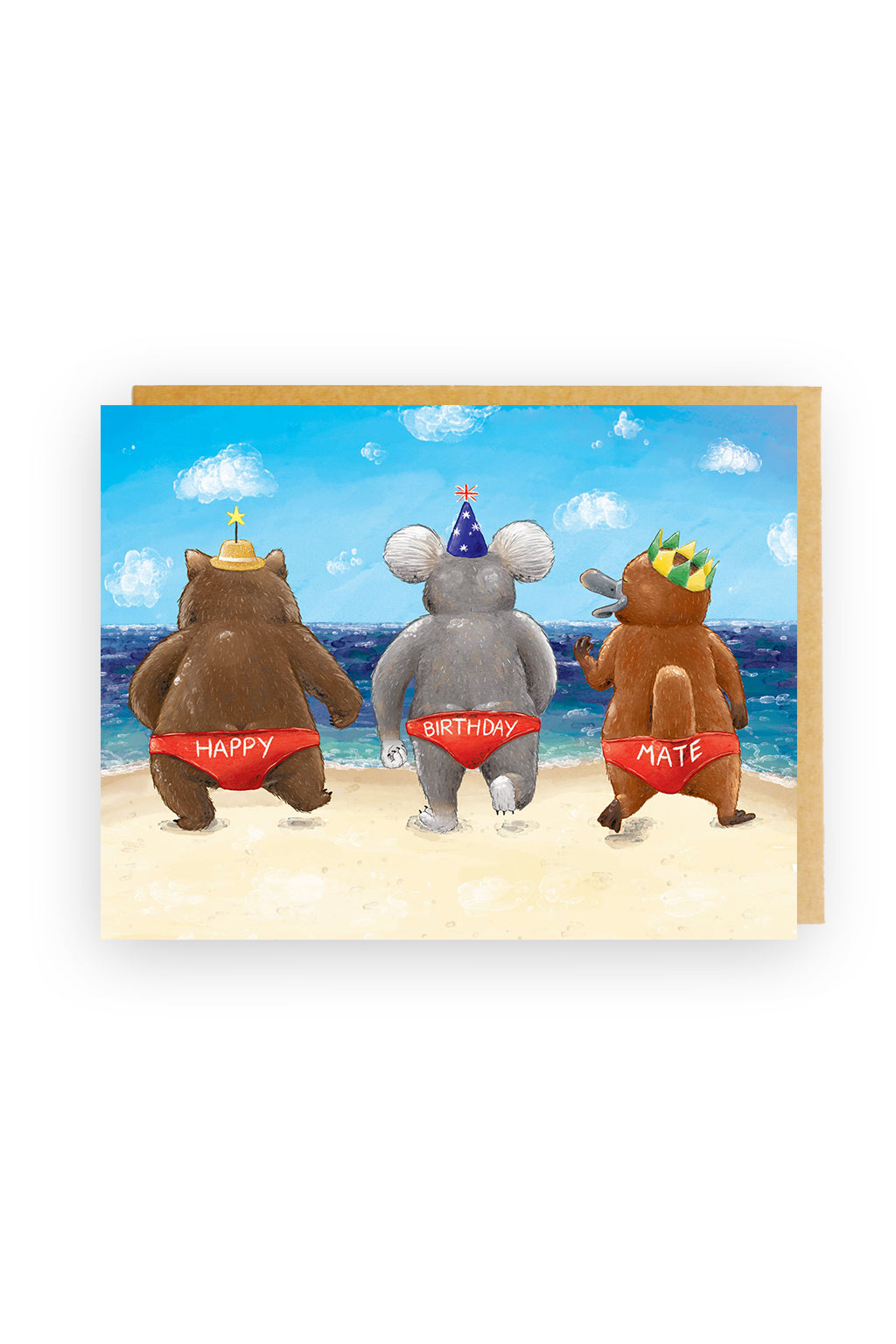 Squirrel Design Studio-Budgie Smugglers - Birthday Card-Mott and Mulberry
