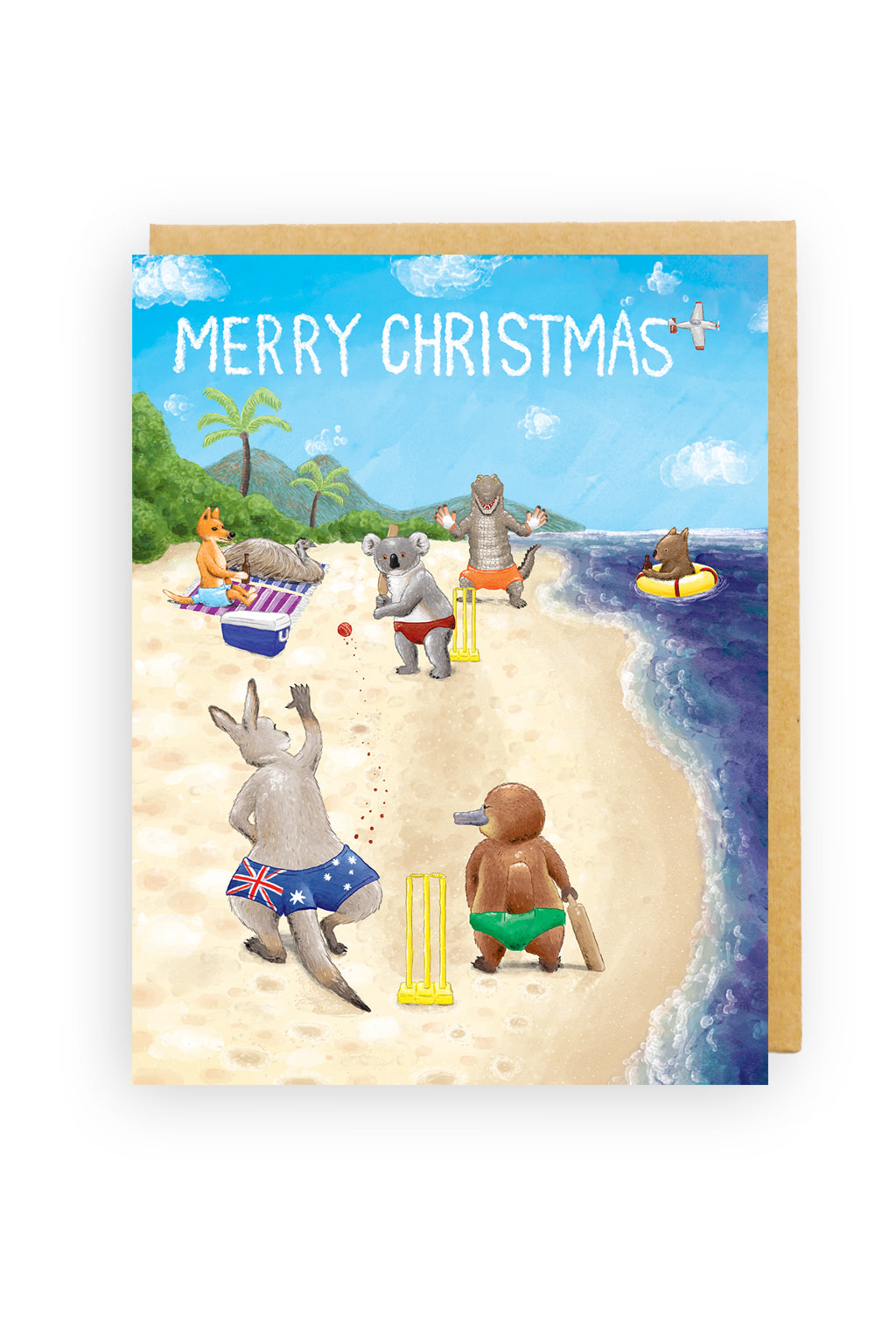 Squirrel Design Studio-Beach Cricket - Christmas Card-Mott and Mulberry
