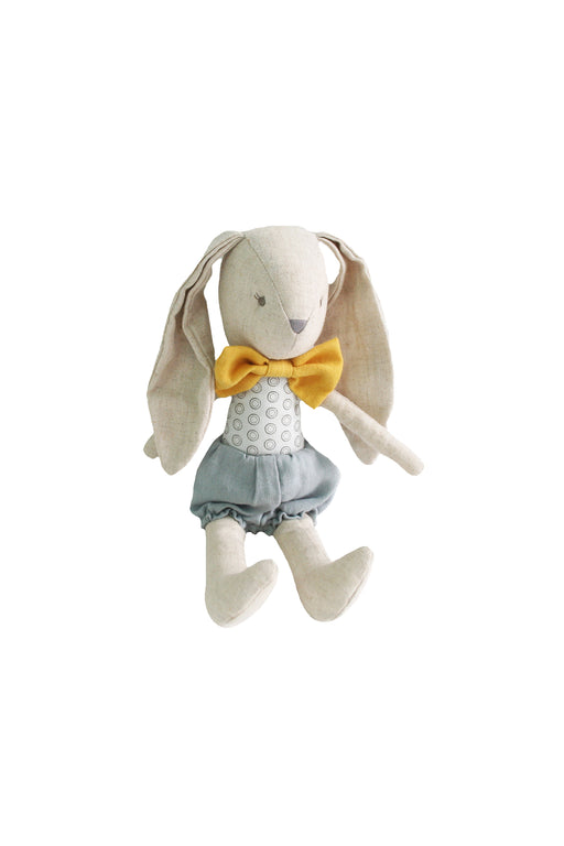 Alimrose-Baby Boy Bunny 24cm Grey Butterscotch-mott-and-mulberry-shop-online-brisbane