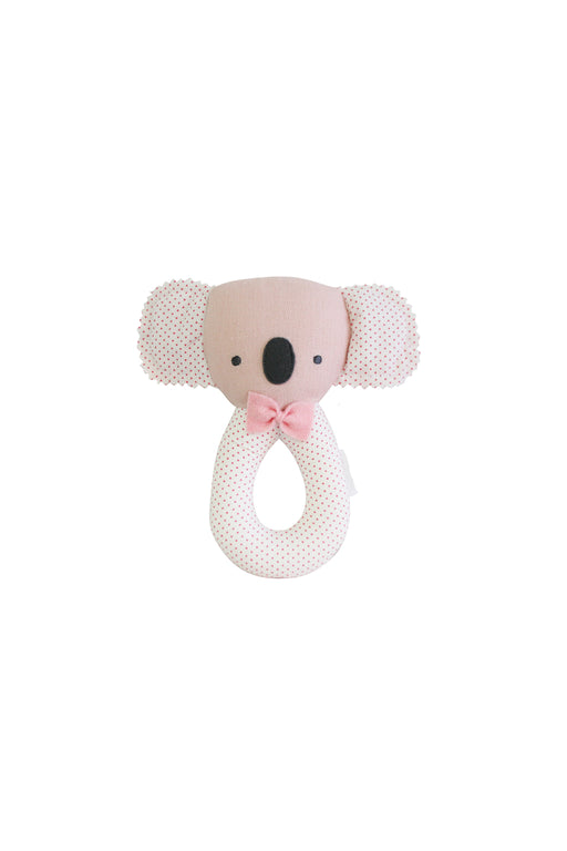 Alimrose-Baby Koala Grab Rattle Pink-mott-and-mulberry-shop-online-brisbane