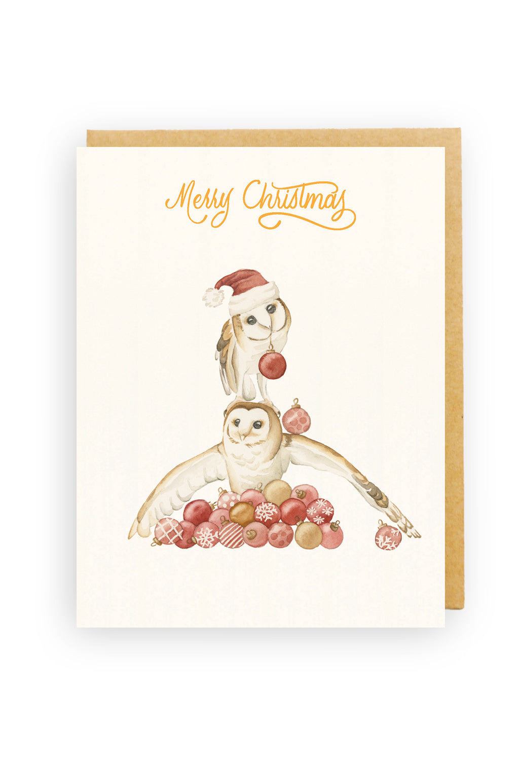Squirrel Design Studio-Bauble Bank - Christmas Card-Mott and Mulberry