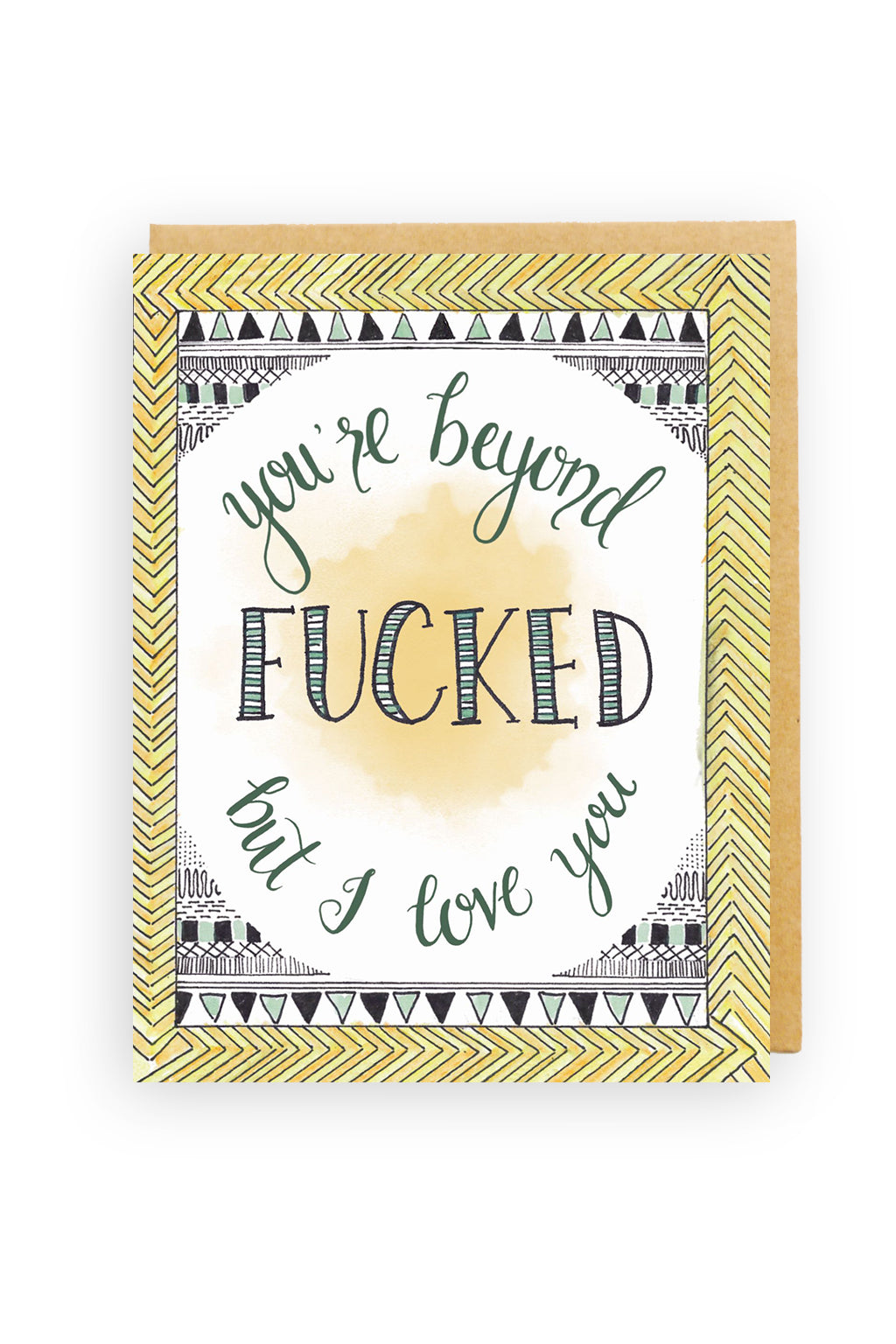 Squirrel Design Studio-You're Beyond Fucked - Love Card-Mott and Mulberry