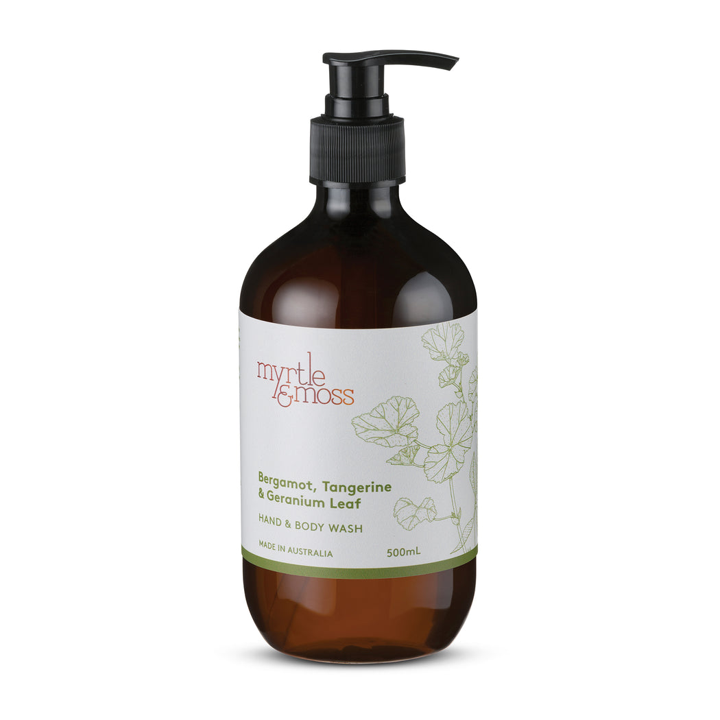 Myrtle and Moss-Bergamot Body Wash 500ml-mott-and-mulberry-shop-online-brisbane