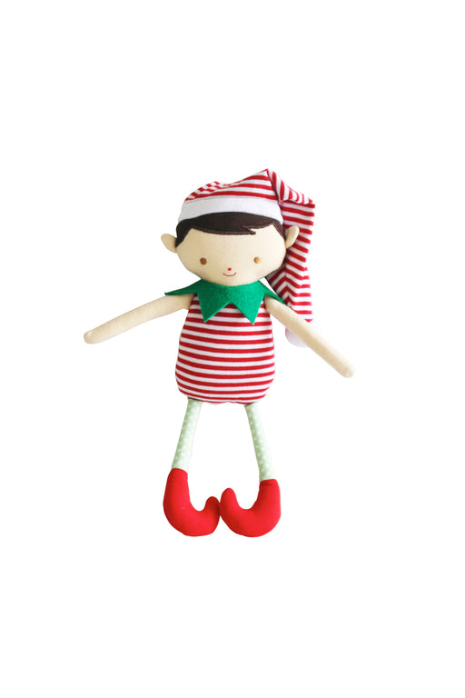 Alimrose-Cheeky Boy Elf Rattle Red 26 cm-Mott and Mulberry