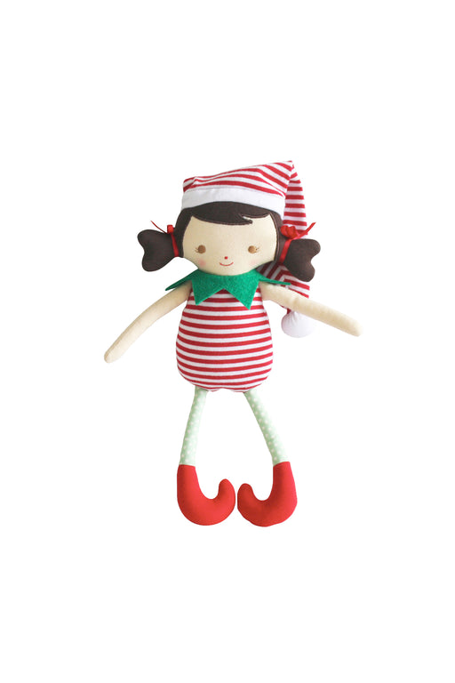 Alimrose-Cheeky Girl Elf Rattle Red 26 cm-Mott and Mulberry