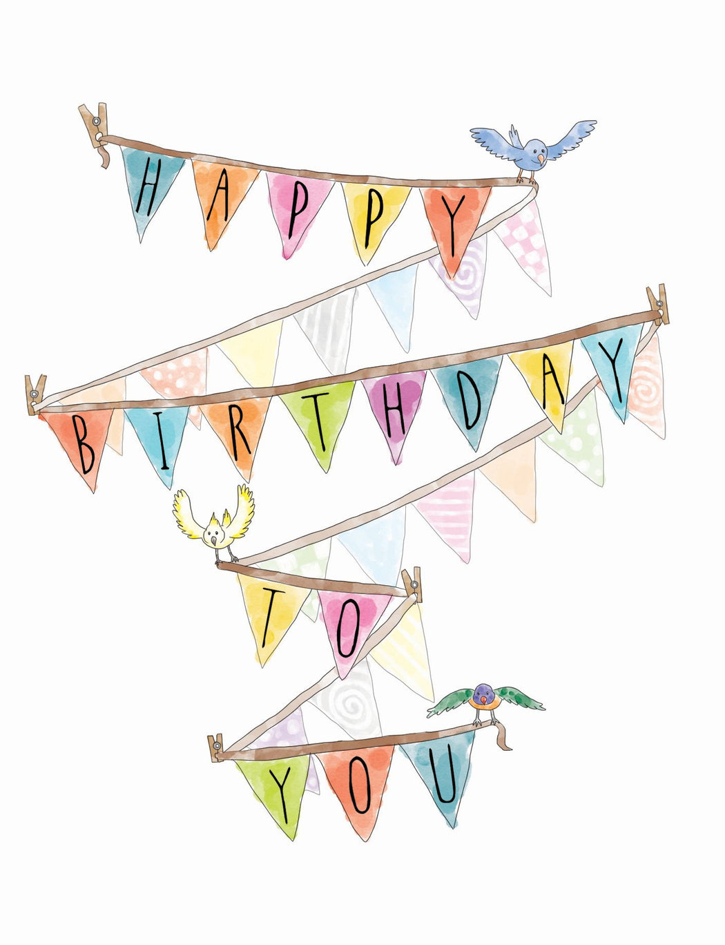Squirrel Design Studio-Bunting Flags - Birthday Card-Mott and Mulberry