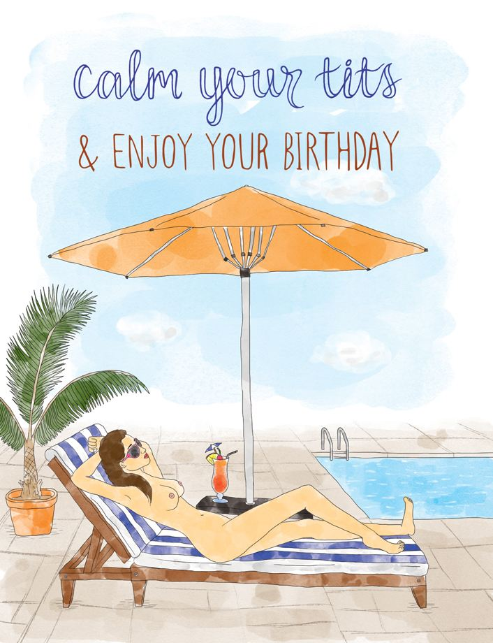 Squirrel Design Studio-Calm Your Tits - Birthday Card-Mott and Mulberry