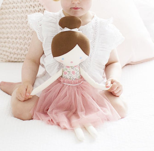 Alimrose-Amelia Ballet Doll 52cm Pale Pink Floral-mott-and-mulberry-shop-online-brisbane