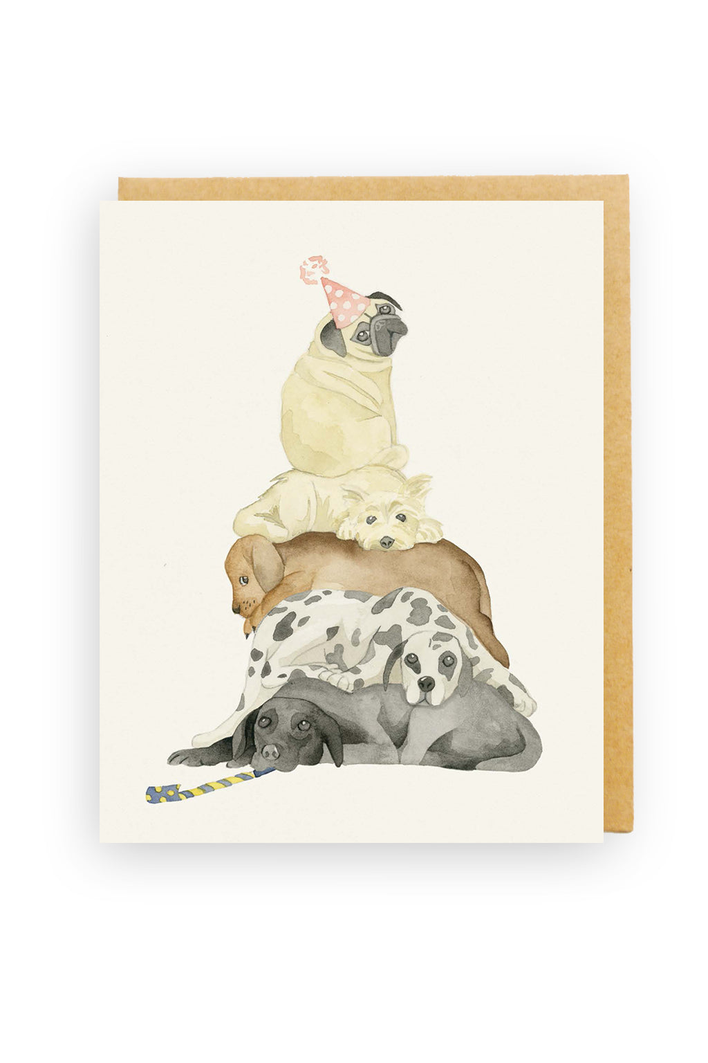Squirrel Design Studio-Dog Stack - Birthday Card-Mott and Mulberry