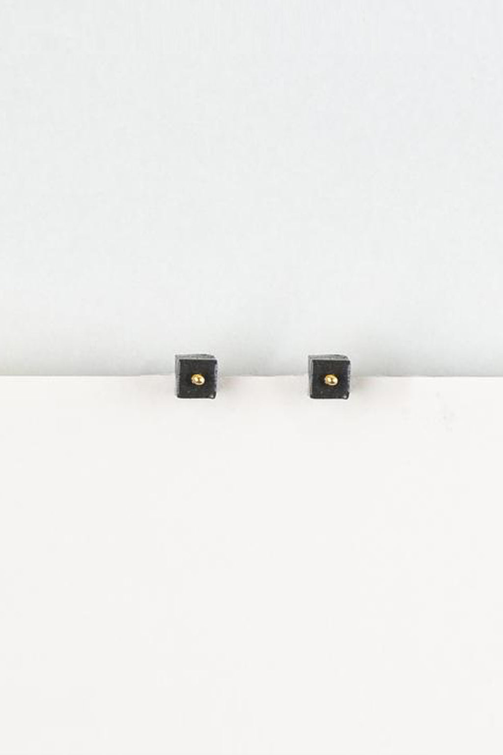 Erin Lightfoot-Cube Stud Earrings Black-mott-and-mulberry-shop-online-brisbane