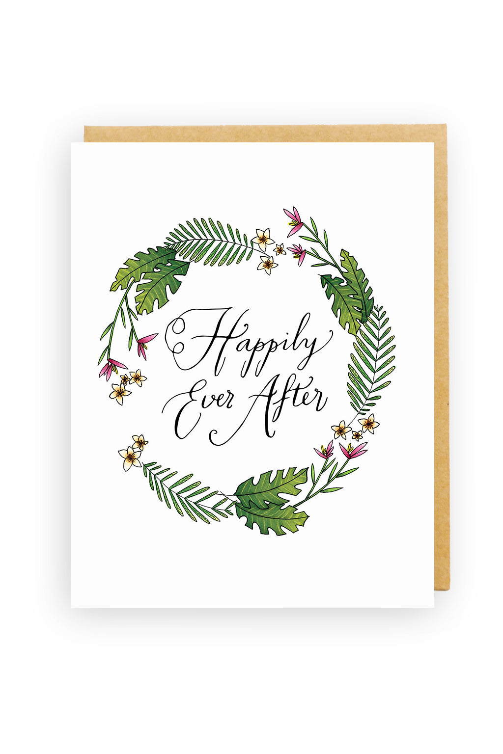 Squirrel Design Studio-Fern Wreath - Wedding/Engagement Card-Mott and Mulberry