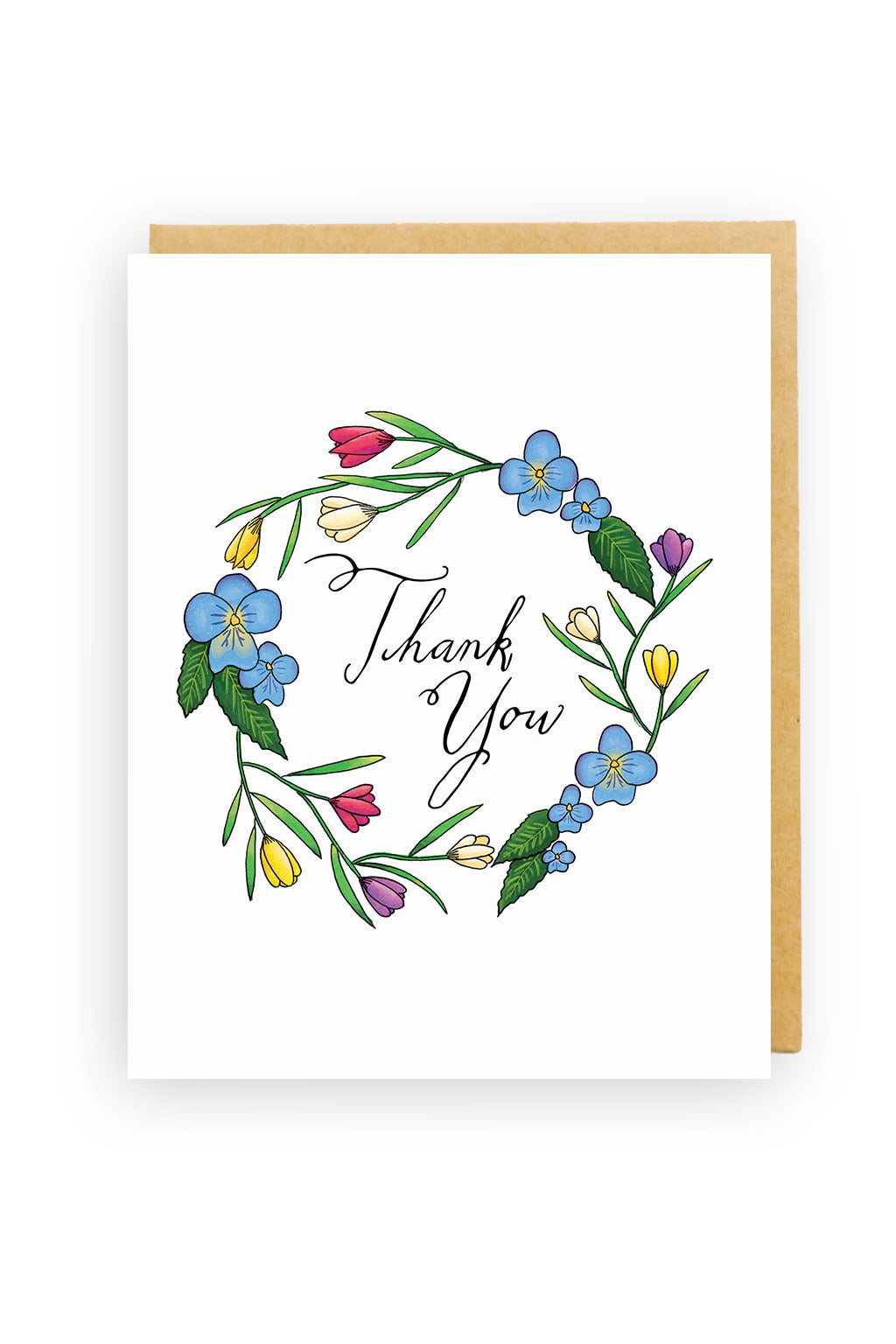 Squirrel Design Studio-Tulip Wreath - Thank You Card-Mott and Mulberry
