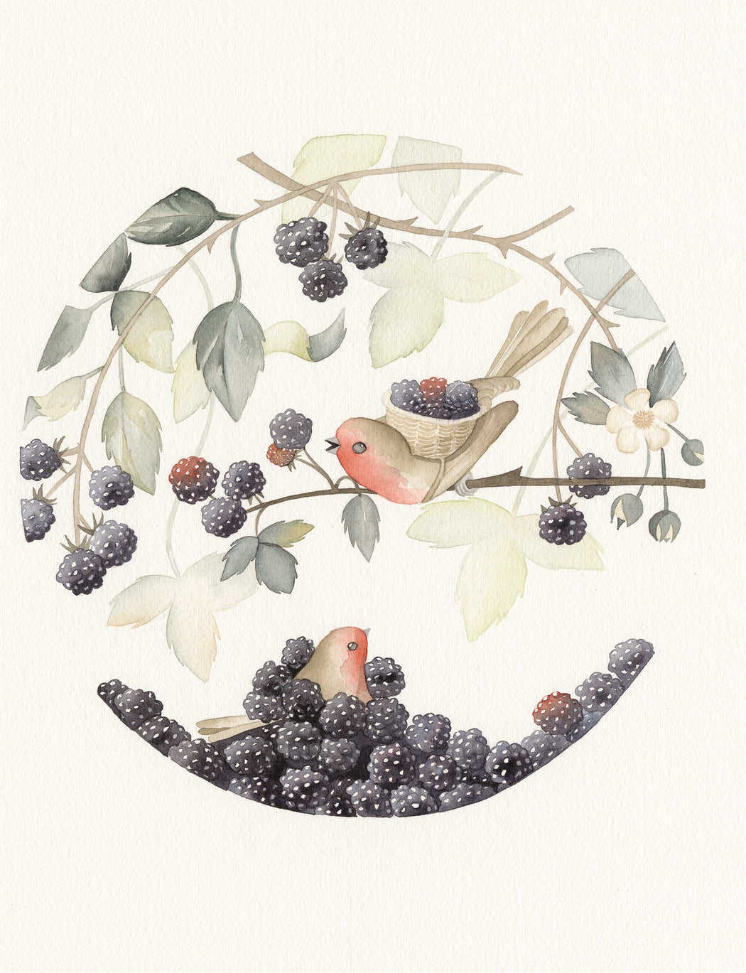 Squirrel Design Studio-The Harvest - Greeting Card-Mott and Mulberry