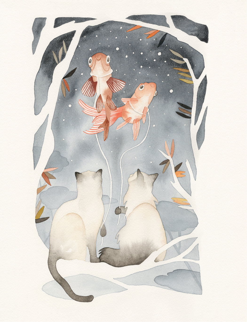 Squirrel Design Studio-Night Walk - Greeting Card-mott-and-mulberry-shop-online-brisbane