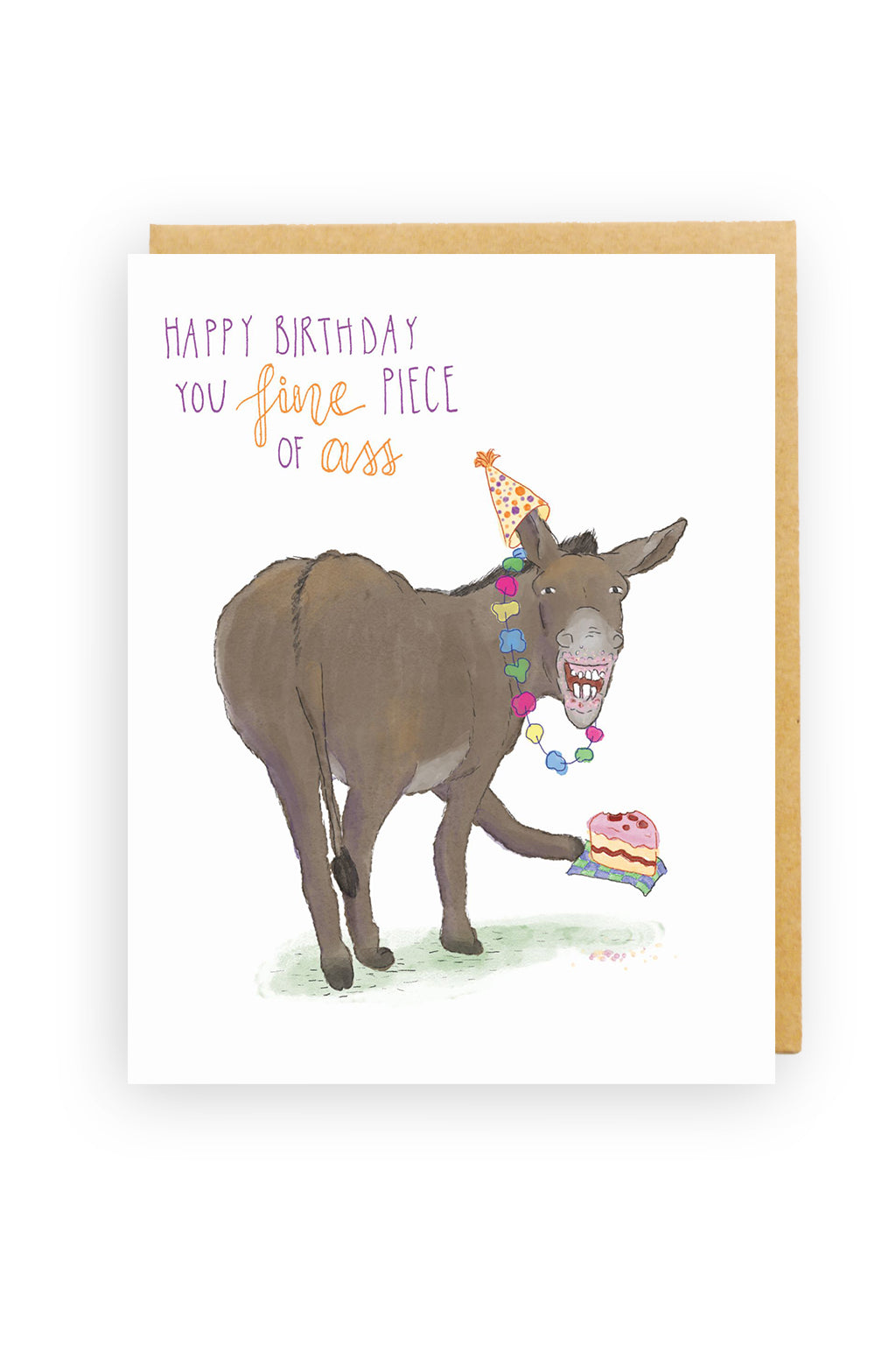 Squirrel Design Studio-Fine Piece of Ass - Birthday Card-Mott and Mulberry