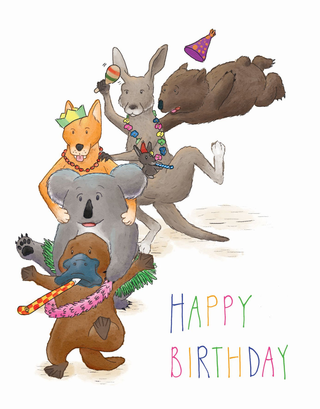 Squirrel Design Studio-Conga Line Party - Birthday Card-Mott and Mulberry