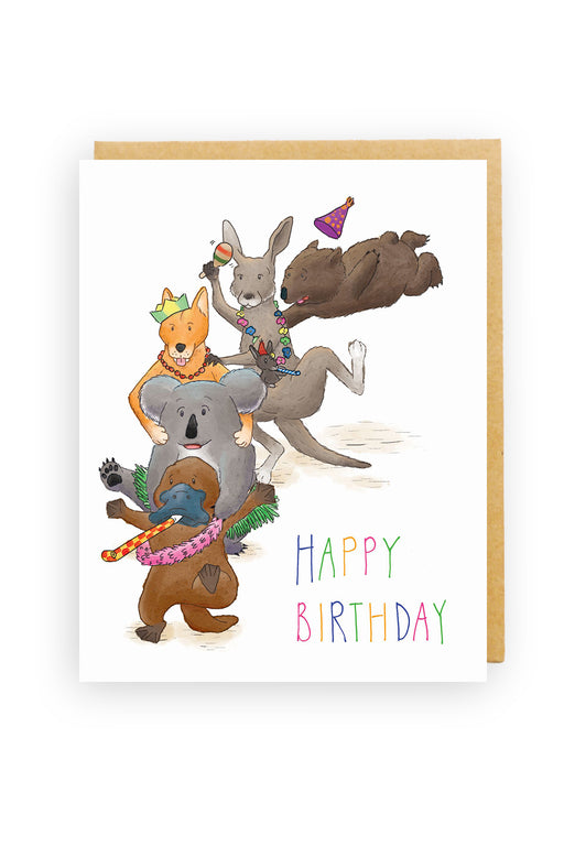 Squirrel Design Studio-Happy Birthday Conga Line Card-mott-and-mulberry-shop-online-brisbane