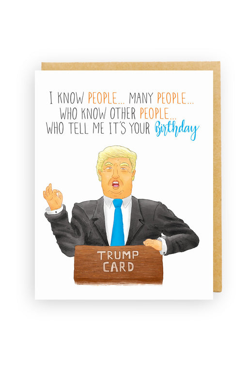 Squirrel Design Studio-Trump Birthday Card - I know People Many People...-mott-and-mulberry-shop-online-brisbane