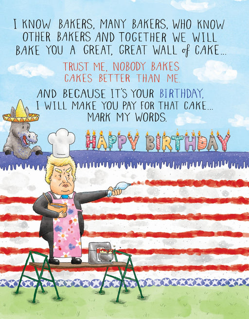 Squirrel Design Studio-Trump Birthday Card -Nobody Bakes Cakes Better than Me-mott-and-mulberry-shop-online-brisbane