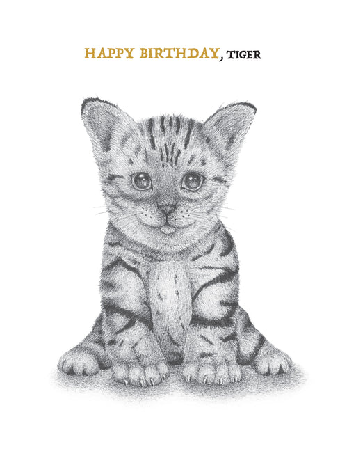 Squirrel Design Studio-Happy Birthday, Tiger - Birthday Card-Mott and Mulberry