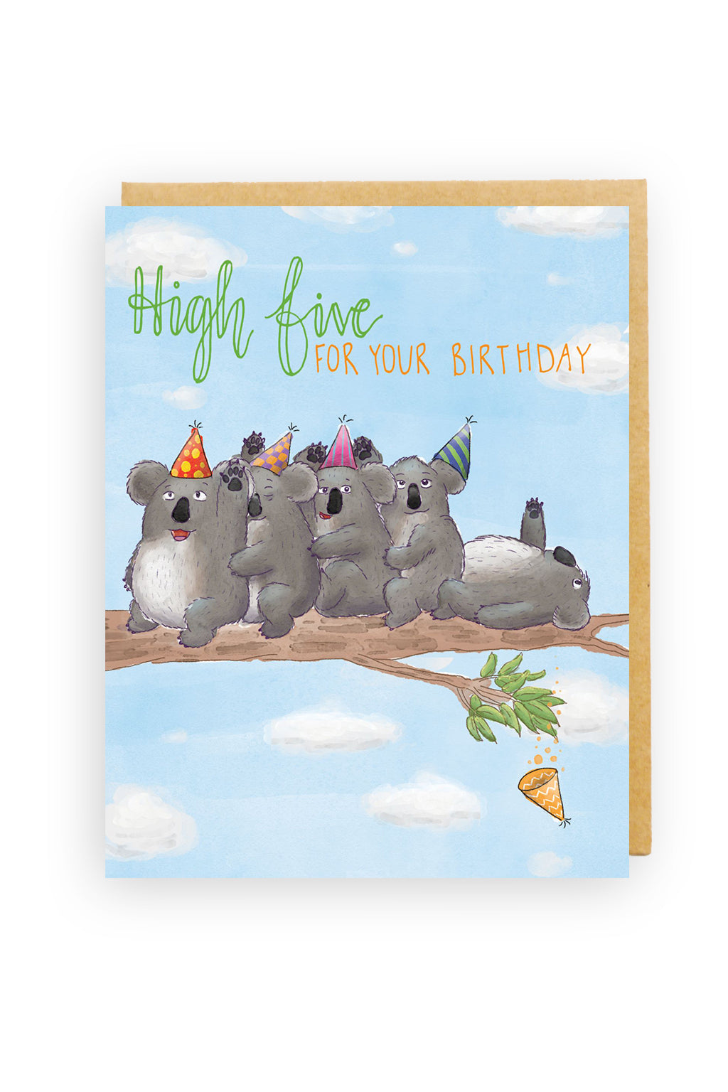 Squirrel Design Studio-High Five Koalas - Birthday Card-Mott and Mulberry