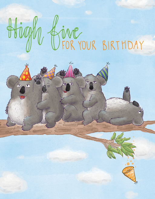 Squirrel Design Studio-High Five for your Birthday Card-mott-and-mulberry-shop-online-brisbane