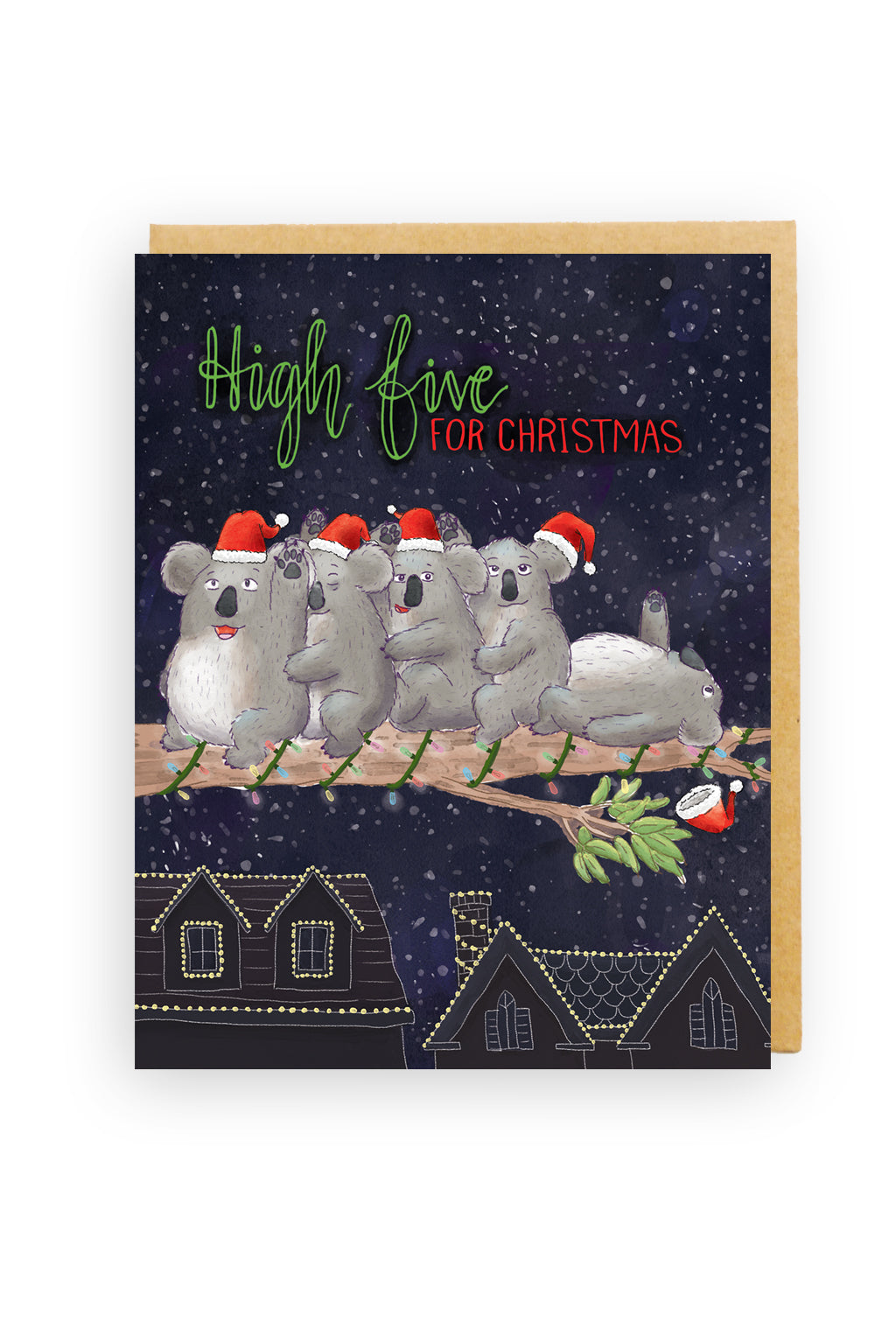 Squirrel Design Studio-High Five Koalas - Christmas Card-Mott and Mulberry