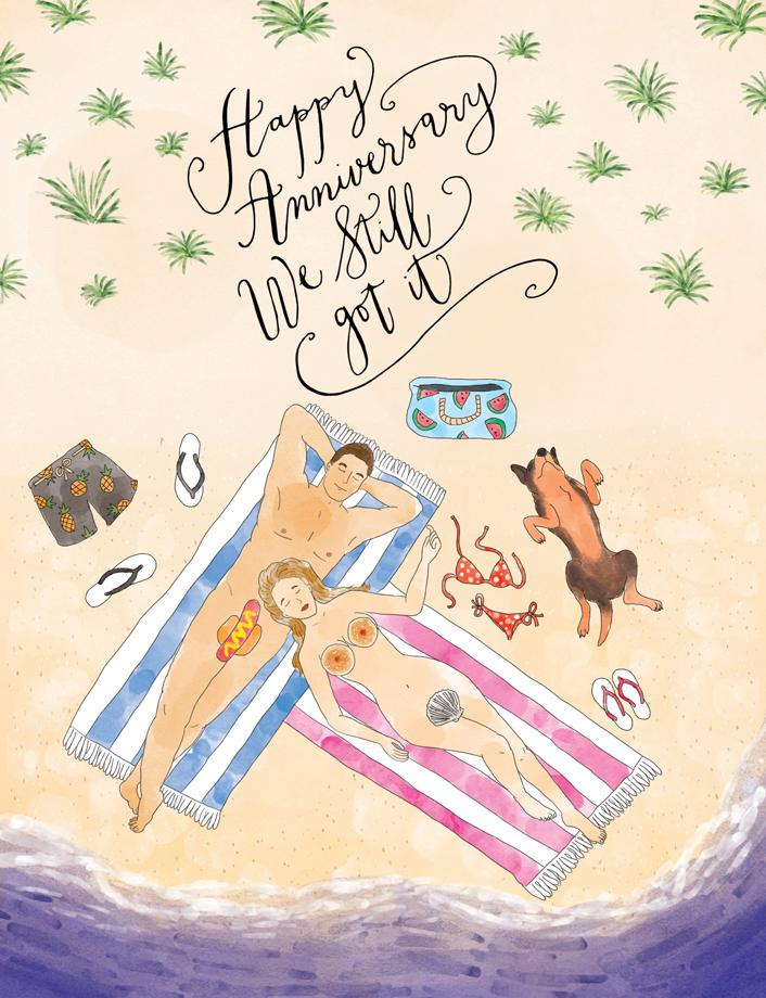 Squirrel Design Studio-Naked Couple We Still Got It - Anniversary Card-Mott and Mulberry
