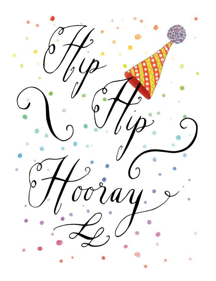 Squirrel Design Studio-Hip Hip Hooray - Birthday Card-Mott and Mulberry