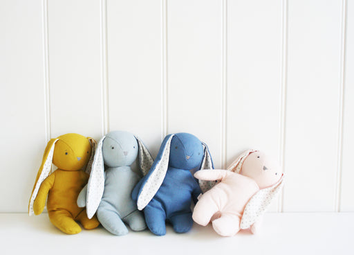 Alimrose-Baby Floppy Bunny 25 cm Grey Linen-mott-and-mulberry-shop-online-brisbane