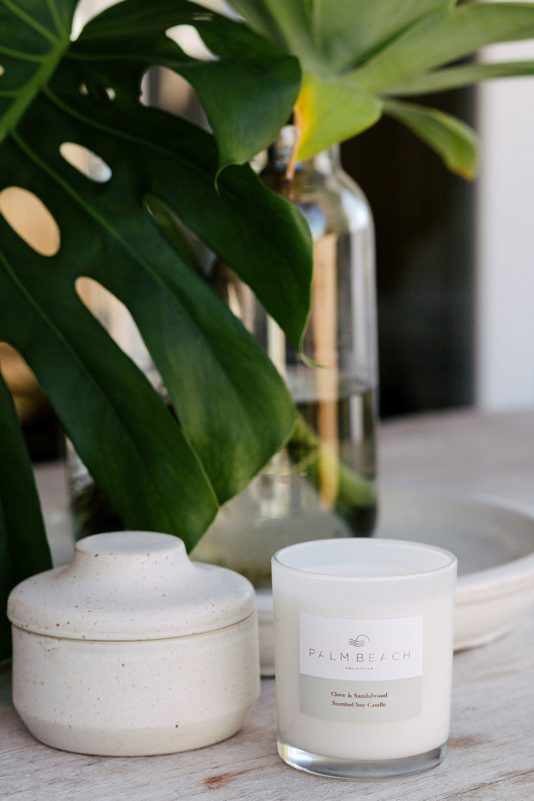 Palm Beach-PALM BEACH Clove and Sandalwood Standard Candle-Mott and Mulberry