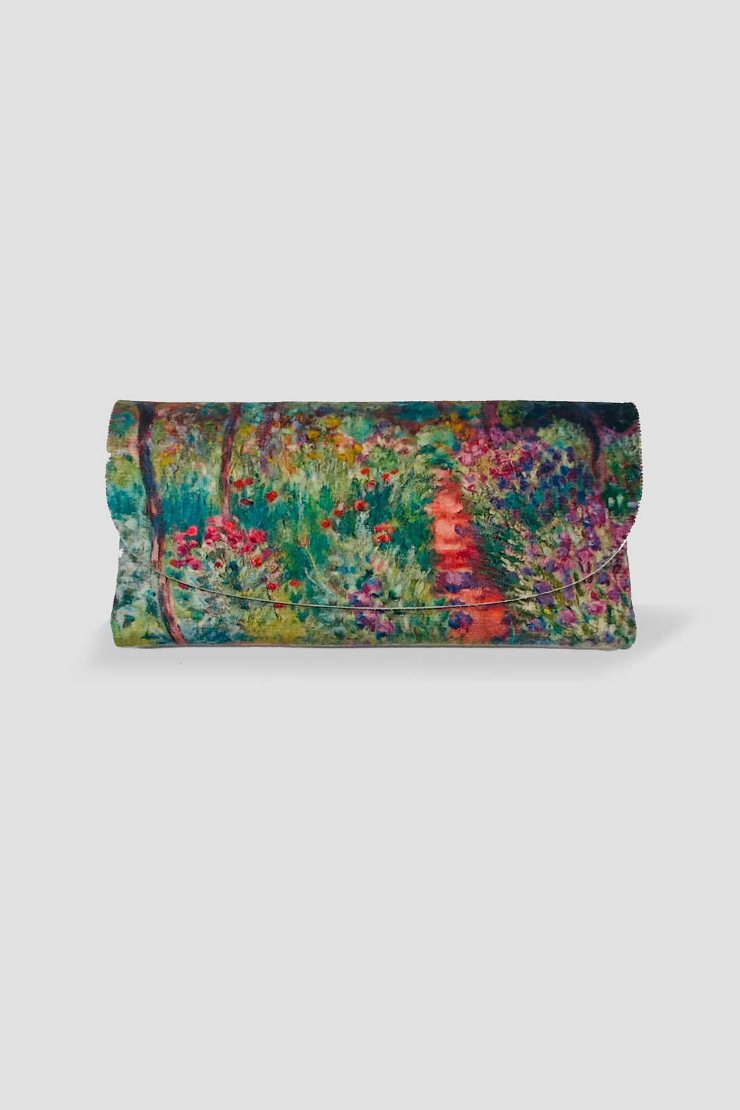 Kelnet-KELNET FRENCH VELOUR GLASSES CASE GARDEN AT GIVERNY MONET-Mott and Mulberry