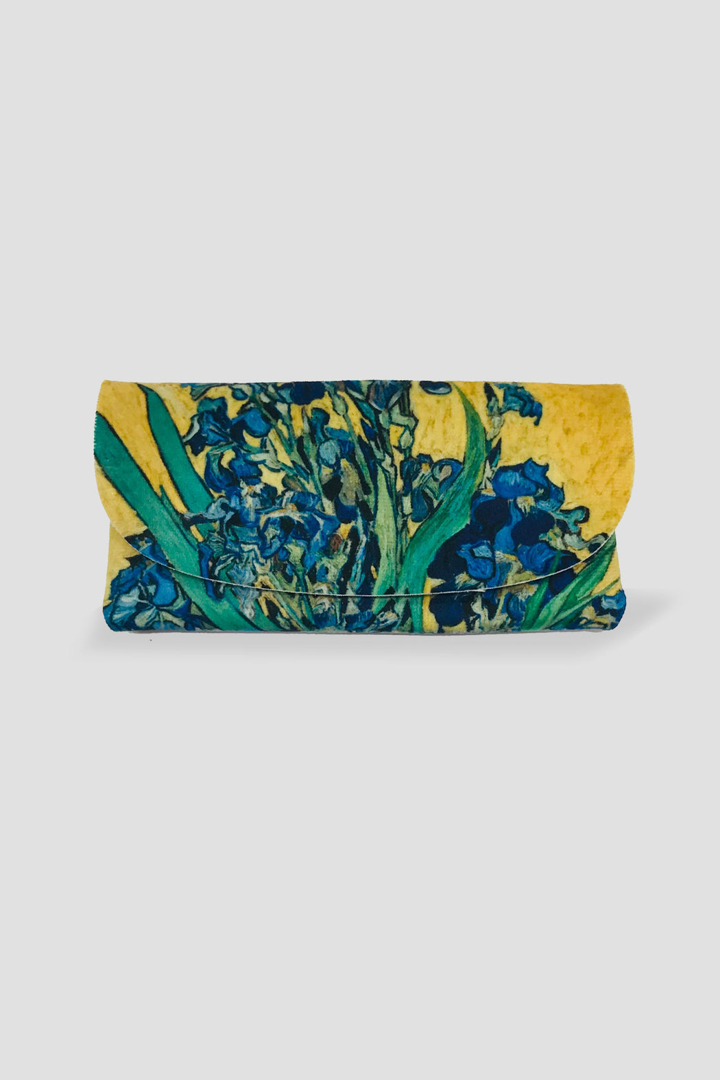Kelnet-KELNET FRENCH VELOUR GLASSES CASE VASE WITH IRISES VINCENT VAN GOGH 11890-Mott and Mulberry