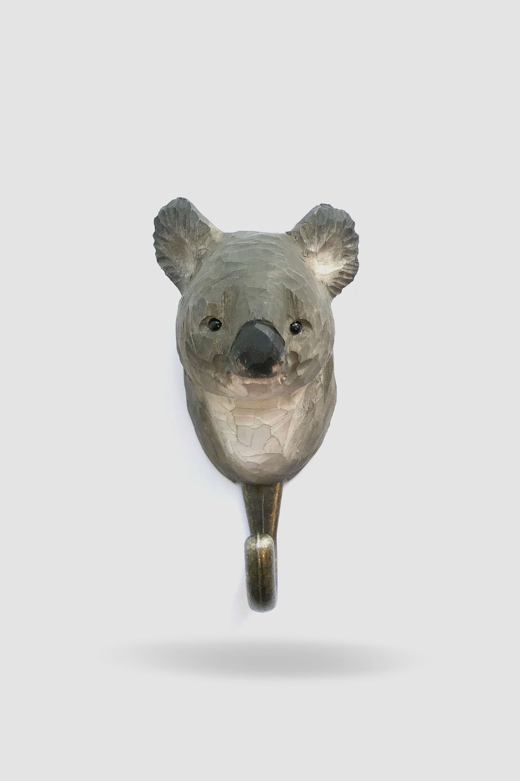 Hall and Wares-Hand Carved Koala Hook-Mott and Mulberry