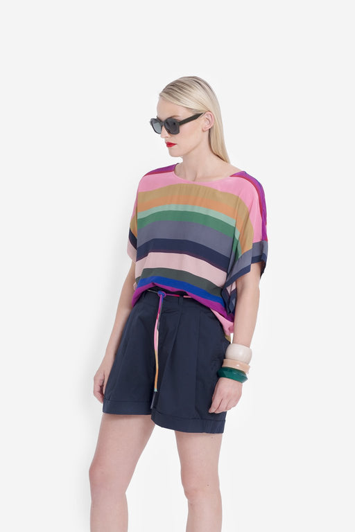 ELK-Lysbro Shell Top Stripe-mott-and-mulberry-shop-online-brisbane