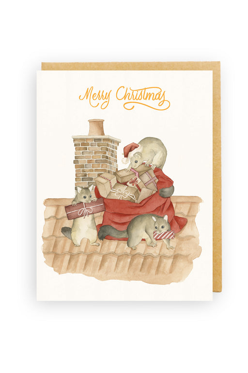 Squirrel Design Studio-Brushtail Bandits - Christmas Card-Mott and Mulberry