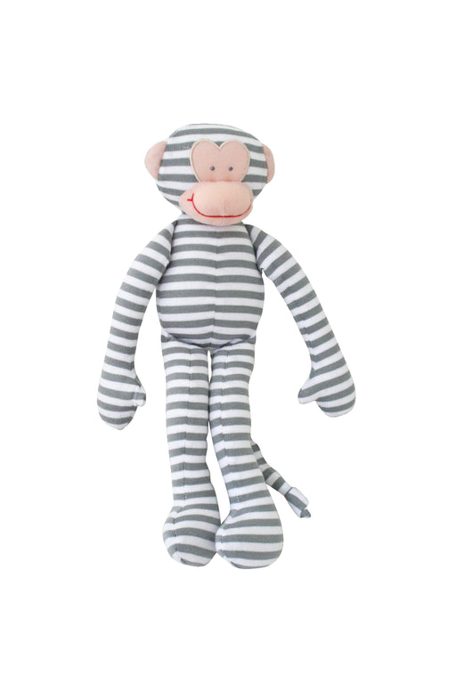 Alimrose-Monkey Rattle Grey Stripe 30cm-mott-and-mulberry-shop-online-brisbane