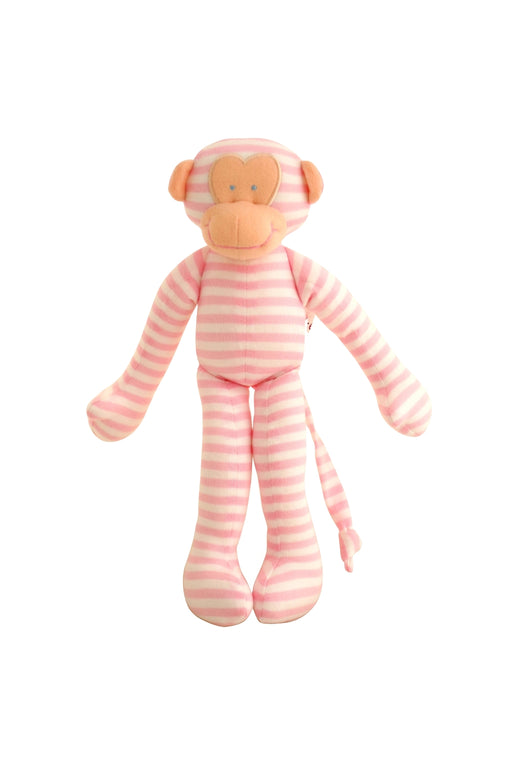 Alimrose-Monkey Rattle Pink Stripe 30cm-mott-and-mulberry-shop-online-brisbane