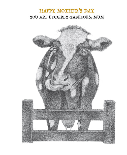 Squirrel Design Studio-An Udderly Fantastic Mum - Mother's Day Card-Mott and Mulberry