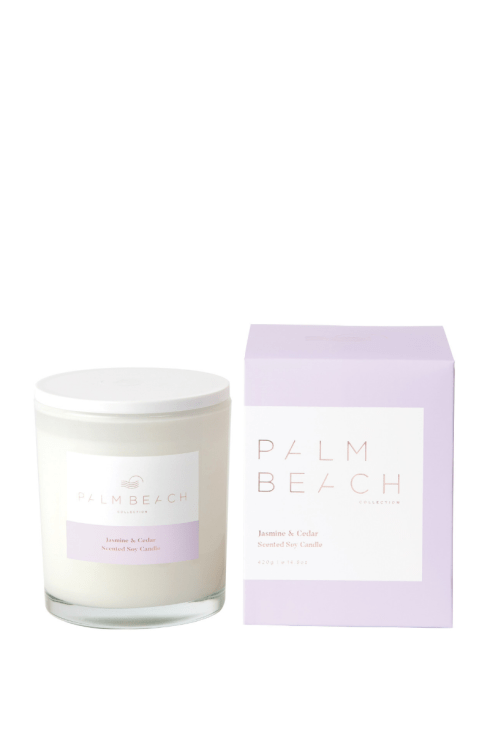 Palm Beach-Palm Beach Fragrance Jasmine and Cedar Standard Candle-Mott and Mulberry