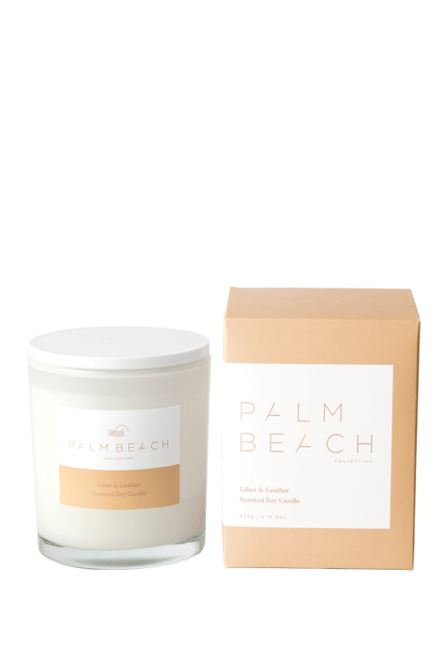 Palm Beach-Palm Beach Fragrance Lillies and Leather Standard Candle-Mott and Mulberry