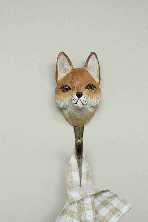 Hall and Wares-Hand Carved Red Fox Hook-Mott and Mulberry