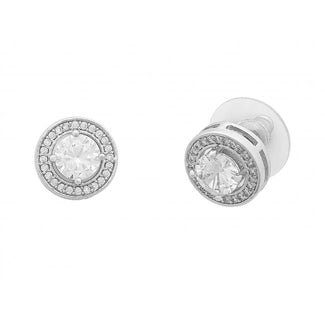 Liberte-Posie Earring Silver-Mott and Mulberry
