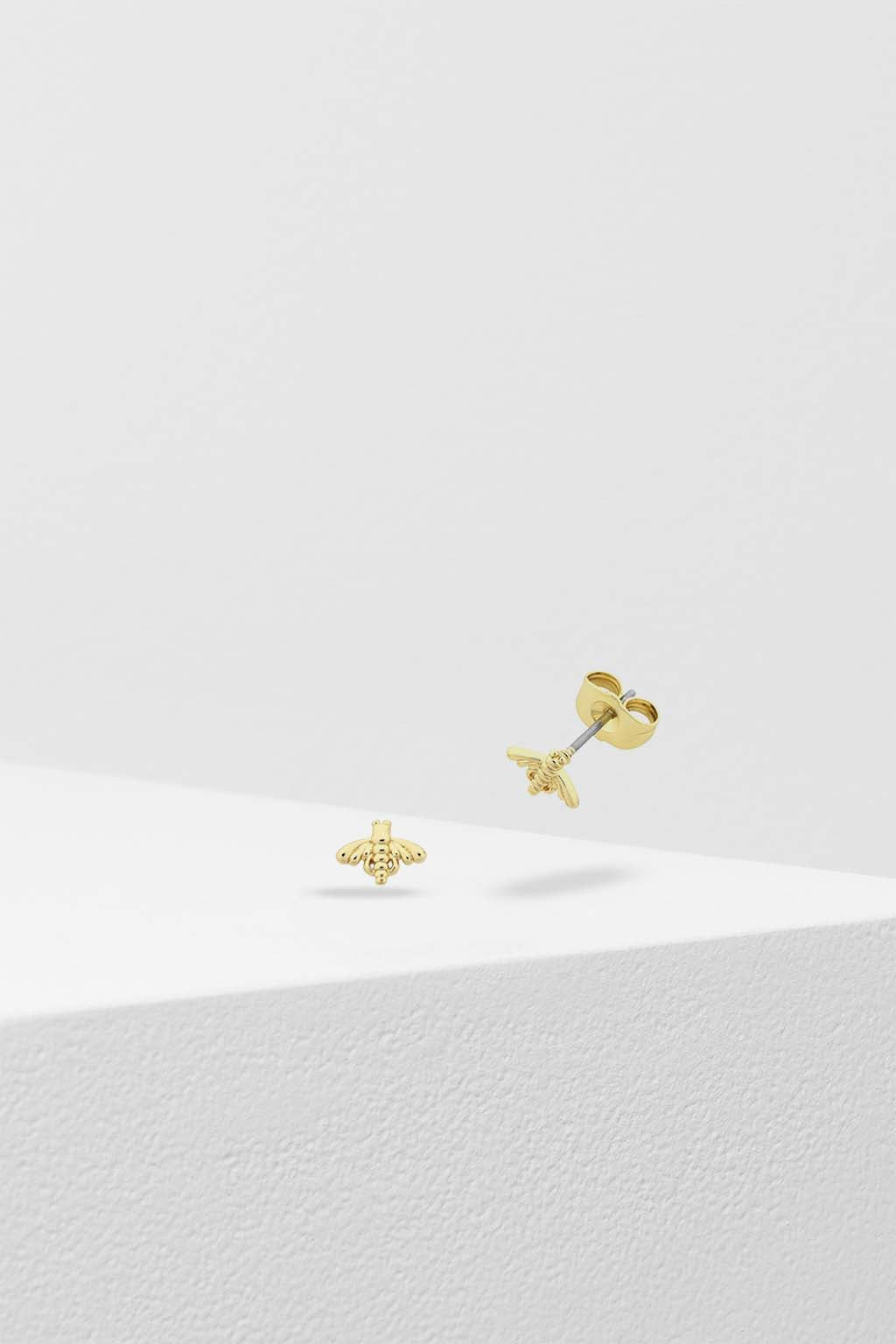 Liberte-Petite Bee Earring Gold-Mott and Mulberry