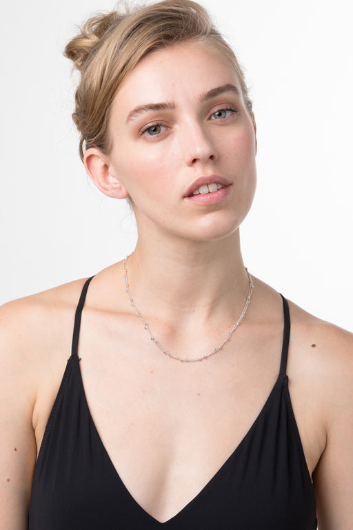 Liberte-Molly Silver Necklace-Mott and Mulberry