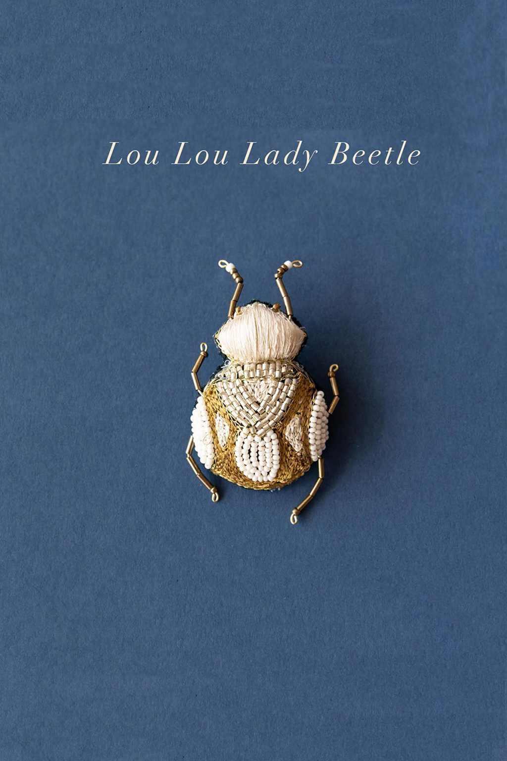 Ruby Olive-Delicate Brooch - Lou Lou Lady Beetle-Mott and Mulberry