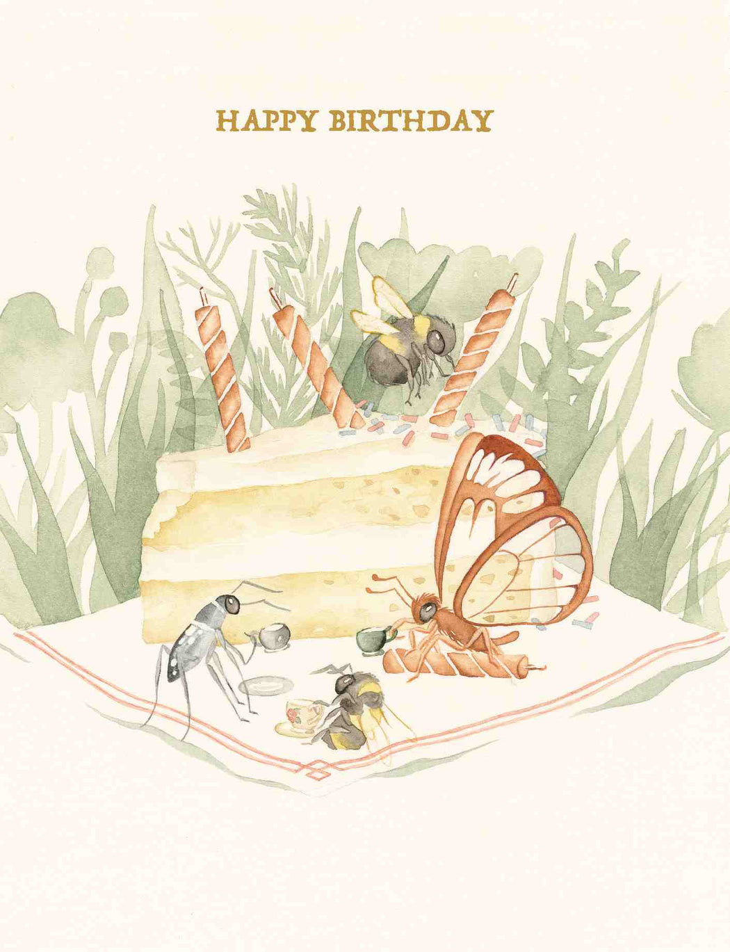 Squirrel Design Studio-Tea Party - Birthday Card-Mott and Mulberry