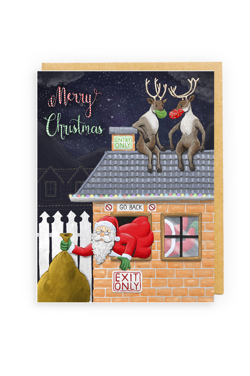 Squirrel Design Studio-Chimney In, Window Out Christmas Card-Mott and Mulberry