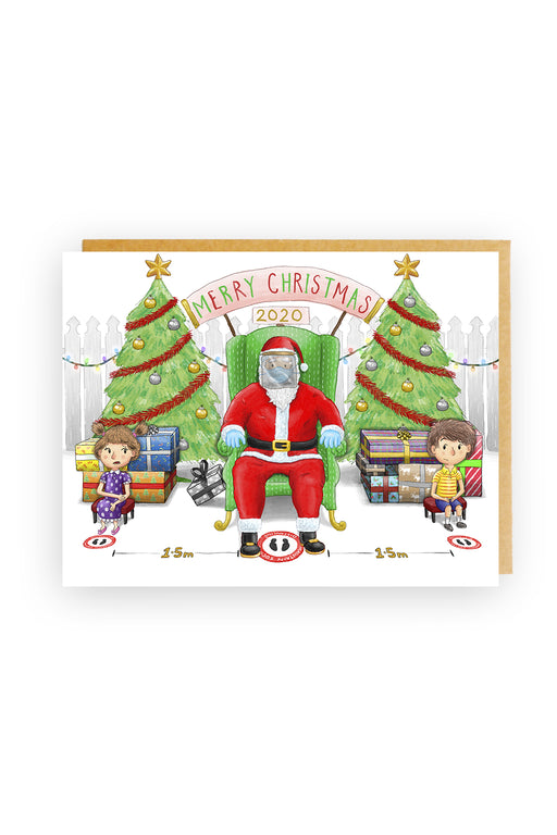 Squirrel Design Studio-Masks In The Mall Christmas Card-Mott and Mulberry